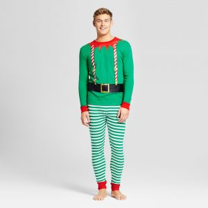 mens christmas elf pjs