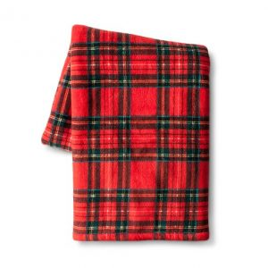 plaid throw blanket